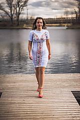 Tehotenské oblečenie - Puzdrové šaty na dojčenie 3 - 10540305_