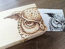Box z prírodného dreva - Pán Sova