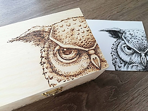 Krabičky - Box z prírodného dreva - Pán Sova - 10542157_
