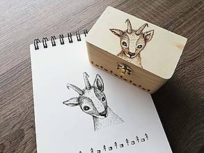 Krabičky - Box z prírodného dreva - Kamzík - 10542213_