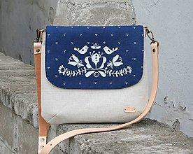 Kabelky - modrotlačová kabelka Ria XL natur AM - 10540406_