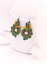 Náušnice - Soutache earrings circles - 10542062_