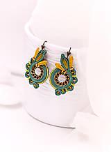 Náušnice - Soutache earrings circles - 10542062_