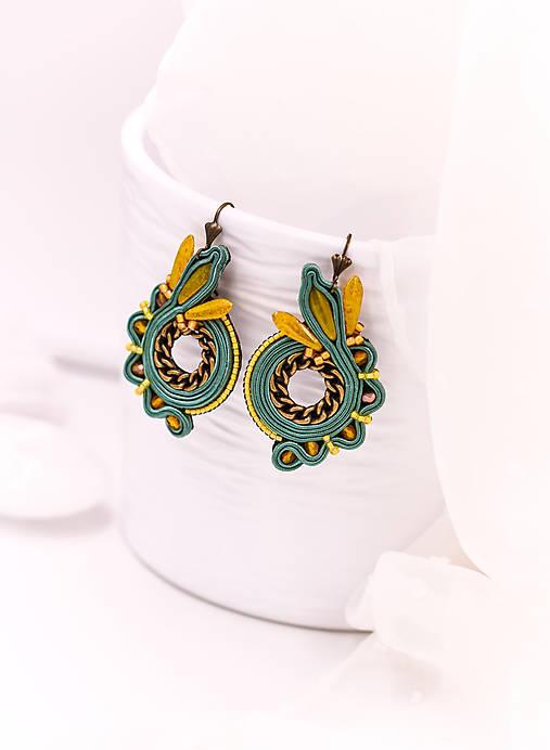 Soutache earrings circles