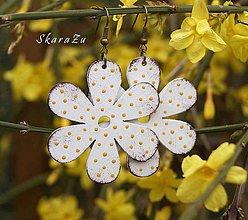 Náušnice - Bloom White // Amber - 10542685_