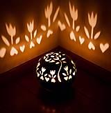 Svietidlá a sviečky - milujem tulipány - svietnik - 10540279_
