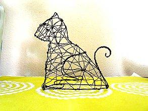 Socha - Mačka 3D   II. (výška 13,5 cm) - 10540457_