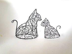Socha - Mačka 3D   II. (18 cm) - 10540468_