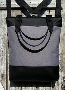 "Batohy - ""backpack 3in1- grey&black"" - Batoh & taška cez rameno - 10541829_"