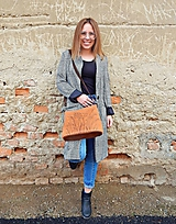 "Kabelky - MILA ""Grass3"" kožená kabelka s vypaľovaným obrázkom - 10542238_"