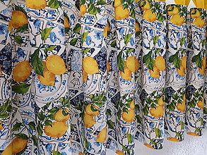 Úžitkový textil - Sada s kachličkami (Kuchynská záclonka 140×60 cm) - 10545145_