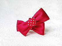 Obuv - Romantické Pin Up klipy na topánky (červené) - 10544139_