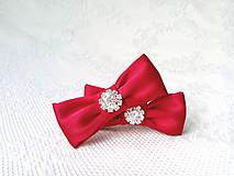 Obuv - Svadobné klipy na topánky (červené) - 10544185_