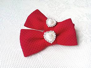 Obuv - Romantické Pin Up klipy na topánky (červené) - 10543997_