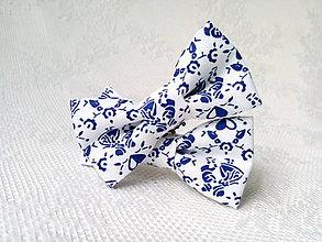 Obuv - Folklórne klipy na topánky (modré tanečnice) - 10544097_