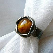 Prstene - Prsteň s tigrím okom ☼ LUCINDE ☼ - 10543376_