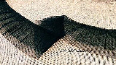 Galantéria - Krajka 130 mm - čierna - 10543336_