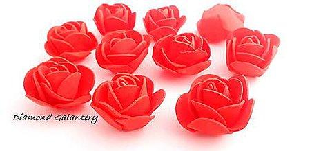 Galantéria - Penové ružičky - červené - 10543938_