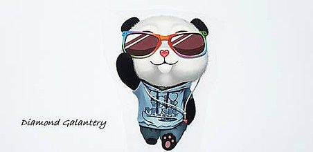 Galantéria - Nažehľovacia nálepka - Panda 60x90 mm - 10543968_