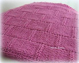 Úžitkový textil - Ružová - ručne pletená deka ♥ - 10545225_