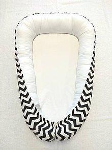 Textil - Hniezdo pre novorodenca (Čierny cikcak) - 10544630_
