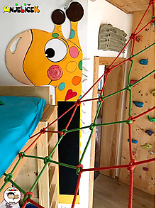 Detské doplnky - Dekorácia na zavesenie - Žirafa + kriedová tabuľa - 10544952_