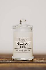Svietidlá a sviečky - POSLEDNÉ KUSY - Sójová sviečka v skle so 100% silicou - Magický les (305g/115g čistý vosk) - 10543522_
