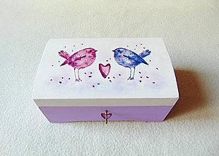 Krabičky - Drevená truhlička Vtáčia pieseň - 10543524_