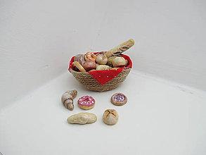 Hračky - MINI pečivo s košíčkom (pre Barbie) - 10543561_