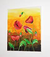 Obrazy - Makové kvety - 10544047_