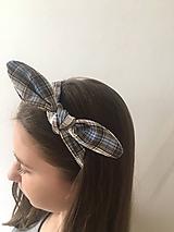 Ozdoby do vlasov - čelenka modrá - 10543380_