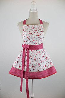 Iné oblečenie - Šatová kuchynká zástera Flowers - 10544401_