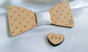 Doplnky - Svadobný motýlik s monogramom - 10543071_