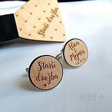 Šperky - Svadobné manžetové gombičky . s vlastným textom - 10543072_