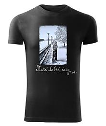Tričká - Pánske tričko Staré časy byAK - 10543487_