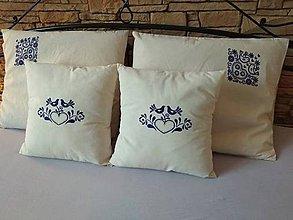 Úžitkový textil - Folklórne bavlnené posteľné obliečky z režnej bavlny. - 10544887_