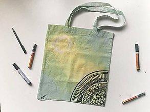 Nákupné tašky - Plátená taška (black line) - 10544618_