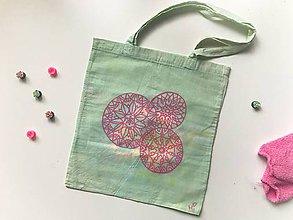 Nákupné tašky - Plátená taška (mandala bubles) - 10544657_