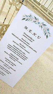 """Papiernictvo - Svadobné menu """"Olivový sen"""" - 10544811_"""