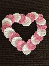 Úžitkový textil - Zero waste Pinky love - Ružové a biele odličovacie tampóny - 10543991_