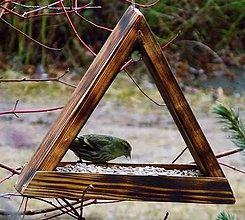 Pre zvieratká - Vtáčie kŕmidlo - trojuholník - 10545546_