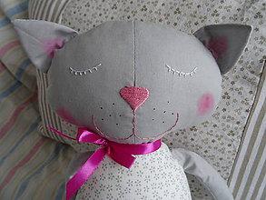 Hračky - sivá mačka - 10545528_