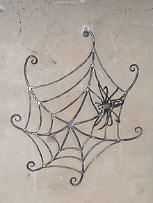 Dekorácie - Pavouk s vlastní pavučinou - 10544437_
