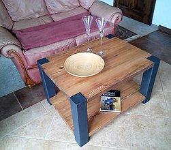 Nábytok - kovový konferenční stolek - 10544671_