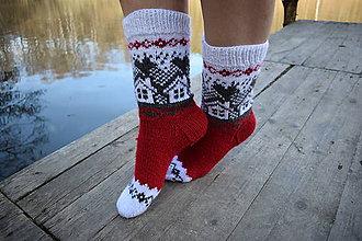 Obuv - ponožky s domčekom ( v.39-41) - 10544354_