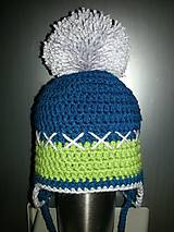 Detské čiapky - Detské merino čiapky s brmbolcom - 10543311_