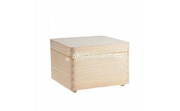 Polotovary - Drevený box 20x20 cm - 10544647_