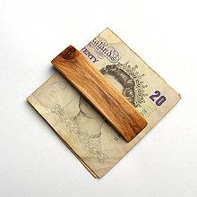 Tašky - Drevená spona na peniaze - topoľová - 10543253_