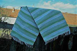 Úžitkový textil - Tkaný koberec zelený - 10544200_