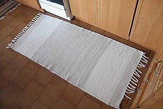 Úžitkový textil - Tkaný béžový koberec - 10544586_